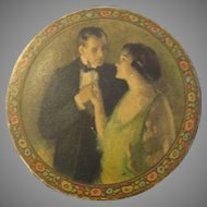Beautiful Antique Circular Box For Your Antique Doll