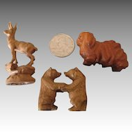 Black Forest Doll House Miniature Carvings