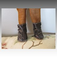 Antique Black Leather Doll Boots for your Antique Doll