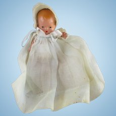 Vintage Story Book Baby Doll in Great Christening Gown
