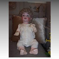 "24"" Antique Baby - Marked K&H -Endearing Features and 5 Piece Bent Limb Body"