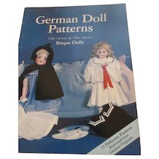 "German Doll Patterns - 12"" & 15"" dolls clothing book"