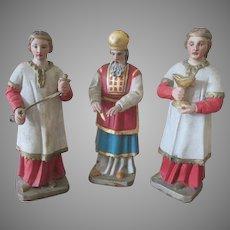 Set of 3 Antique Hand Carved German Dolls