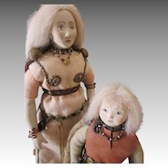 Two Shirley White Dolls - Leif Erikson and his Mother
