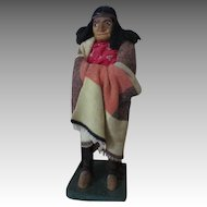 Leather Faced Micmac Indian Doll
