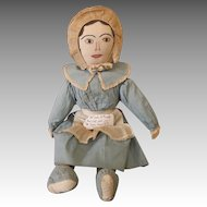 Late 19th Century Cloth Doll in Original Outfit