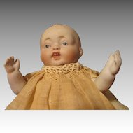 """Adorable 6.5"""" All Bisque Nippon Baby Doll"""