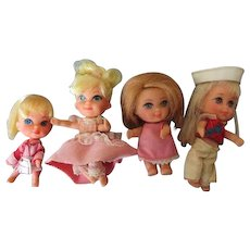 Four Liddle Kiddle Dolls