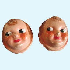 Antique Composition Doll Faces