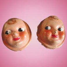 Antique Composition Doll Faces