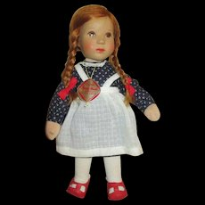 "Adorable 10"" Kathe Kruse Doll - Model Hanne Kruse"