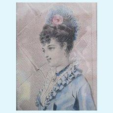Pretty Godey's Ladies Print