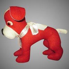 Vintage Felt Dog for your Doll's Companion