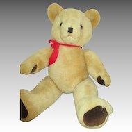 Vintage Blond Mohair Bear