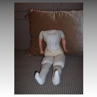 """18"""" Cloth Doll Body with Celluloid Arms"""
