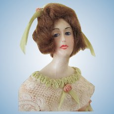 Stunning Wax Over French Faced Doll