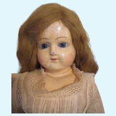 Antique Paper Mache Head Doll - Sweet Look by F. S. Schilling