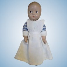 Adorable All Compo Doll in Nurse or Nanny Outfit