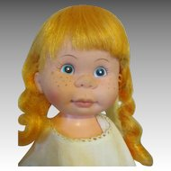 Vintage Chubby Red Haired Doll