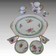 Vintage Rose Motif Doll's Tea Set