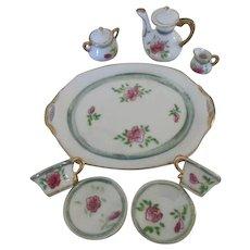 Vintage Rose Motif Doll's Tea Set - Red Tag Sale Item