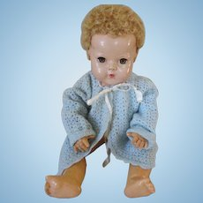"""Vintage Blue Knit Sweater for your 20"""" Dy Dee Baby Doll"""