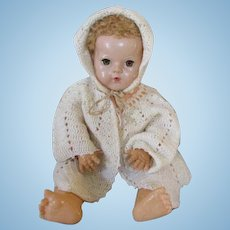 Vintage Bonnet & Sweater Set for Your Dy Dee Baby