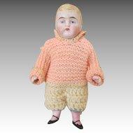 Darling Antique All Bisque Boy Doll