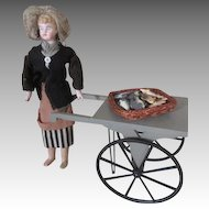 French Fish Monger with Fish Cart