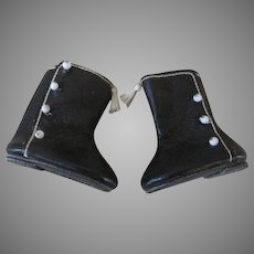 Black Heeled Boots for Your Antique Doll
