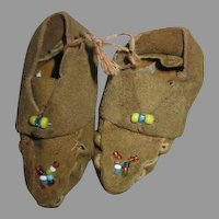 Leather Doll Moccasins