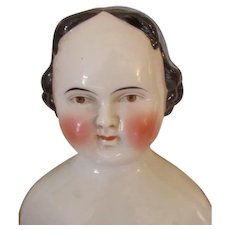 1860's Greiner Style Brown Eyed China Head Doll - Red Tag Sale Item