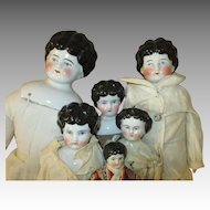 Group of 6 Antique China Head Dolls - Instant Collection