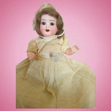 "Sweet 8"" Heubach Baby on Bent Limb Composition Body in Original Dress"