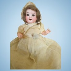 "Sweet 8"" Heubach Baby on Bent Limb Composition Body in Original Dress"