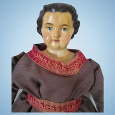 Pretty Paper Mache Greiner Type Antique Doll
