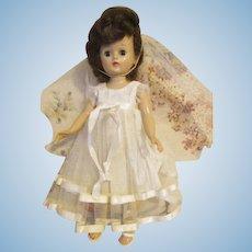 Vintage Brunette Vogue Jill Doll in Bridal Outfit
