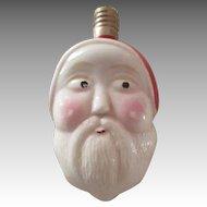 Vintage Milk Glass Santa Christmas Light Bulb