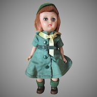 """Vintage 8"""" Uneeda Girl Scout Doll"""