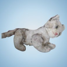Adorable Mohair Kitty for Your Doll's Companion
