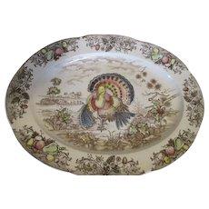 Vintage Turkey Platter - Nice Design