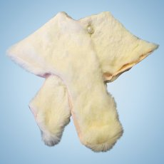 Vintage White Fur Stole for Your French Fashion, Antique or Cissy Doll