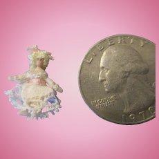 Tiny Half Inch Artist Doll - Itty Bitty Miniature Doll