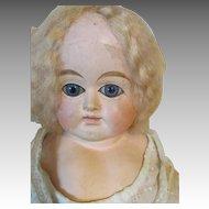Angelic Paper Mache Head Doll