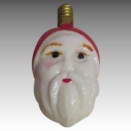 Vintage Santa Milk Glass Christmas Light Bulb
