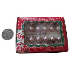 Vintage Tiny 10mm Glass Christmas Bulbs for your Miniature Christmas Tree