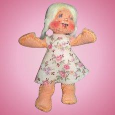 Whimsical Miniature Cloth Doll