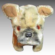 Vintage Mohair Bulldog for Your Doll's Companion