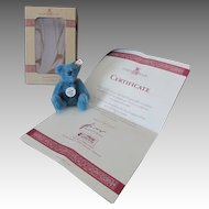 """Adorable 4"""" Steiff Club Bear in Original Box with Certificate"""