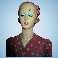 "27"" Art Deco Fashion Dress Model Counter Top Mannequin"